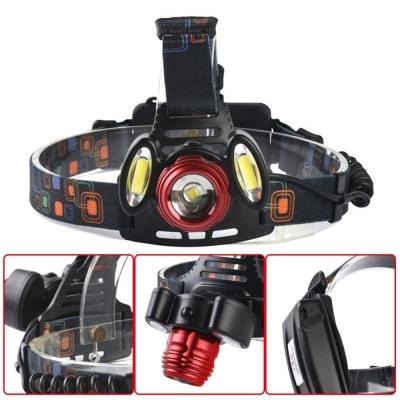Фонарь HEADLIGHT 3 лампы (красный zoom)