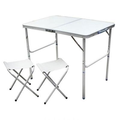 Стол алюминиевый раскладной для пикника + 2 стула